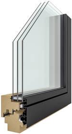 Fenster durchgeschnitten mit Innenansicht