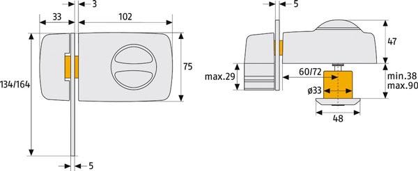 Grafik Sicherheitsnachrüstung für Fenstern und Türen