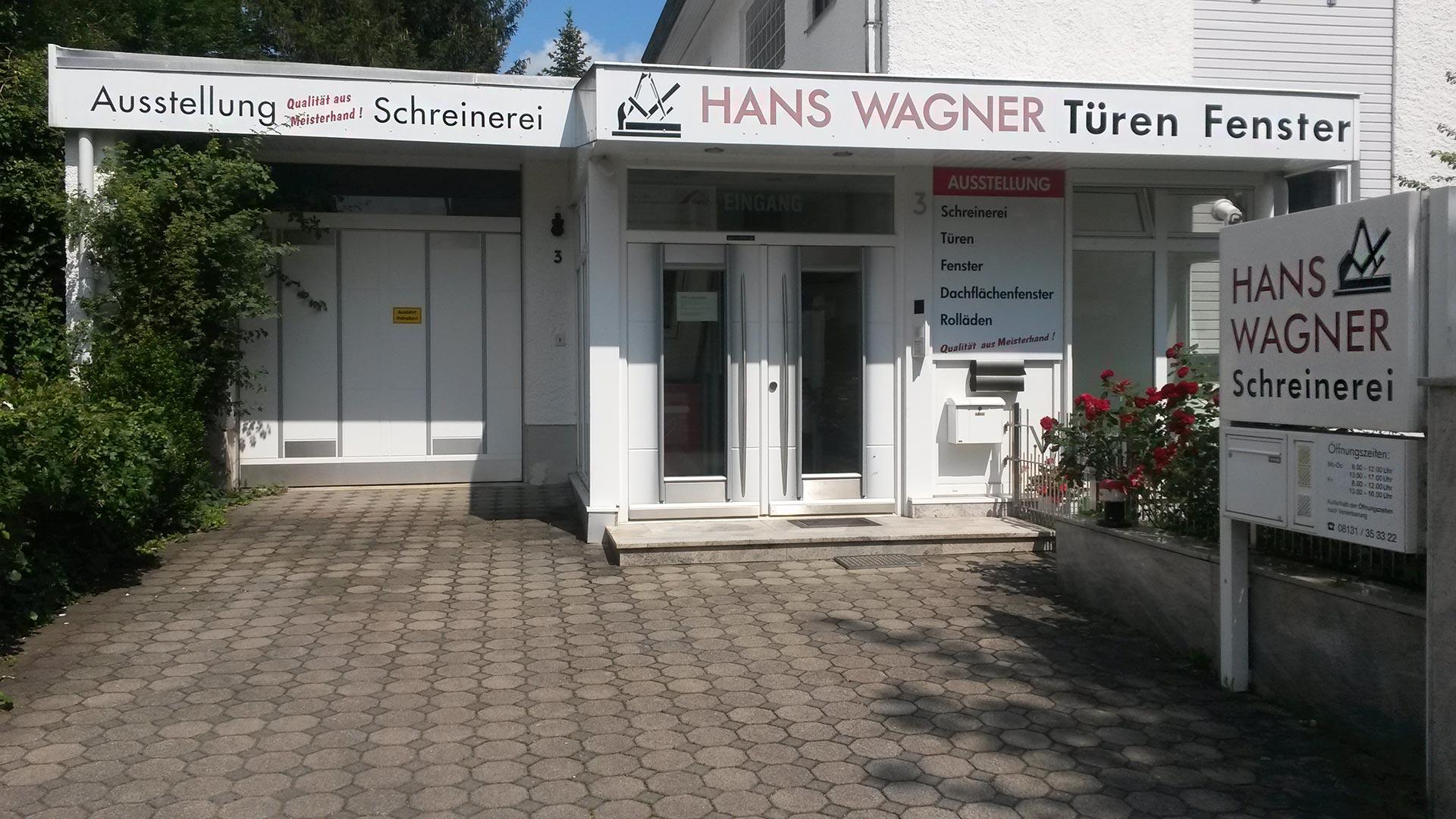Schreinerei-Wagner- Gebäude-Eingang