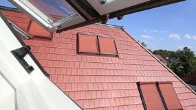 Dachflächenfenster mit aussenmarkise